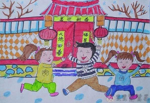2020新春鼠年儿童画,鼠年儿童绘画作品
