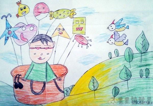 关爱野生动物儿童绘画图片1