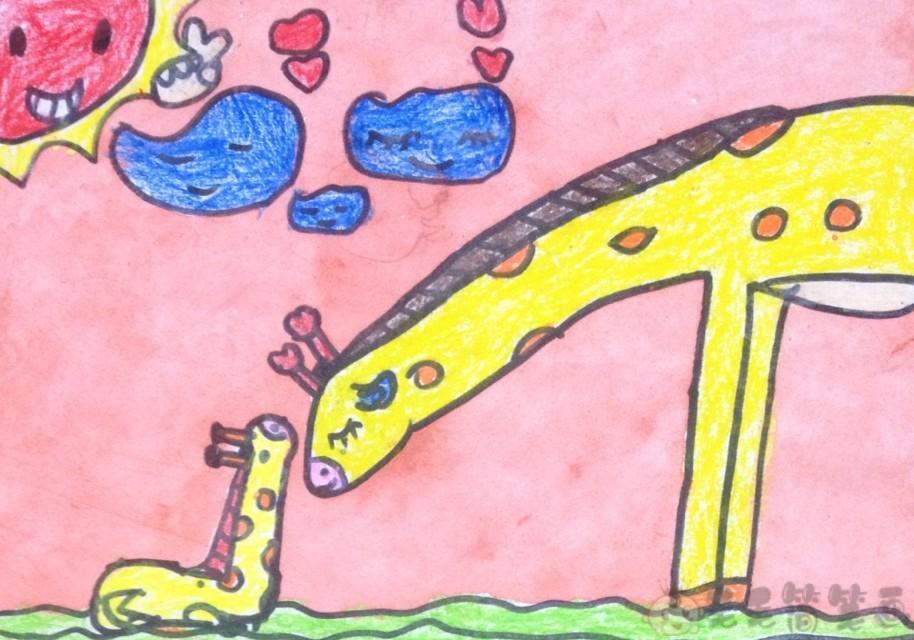 关爱野生动物儿童绘画图片2