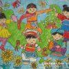 2020鼠年春节优秀儿童绘画作品图片