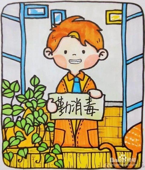 抗击新型肺炎儿童绘画作品