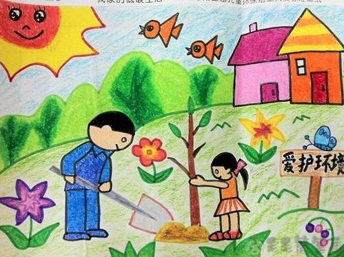 关于植树节的幼儿绘画作品4