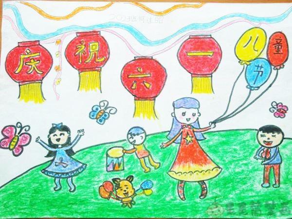 六一儿童节会绘画图片