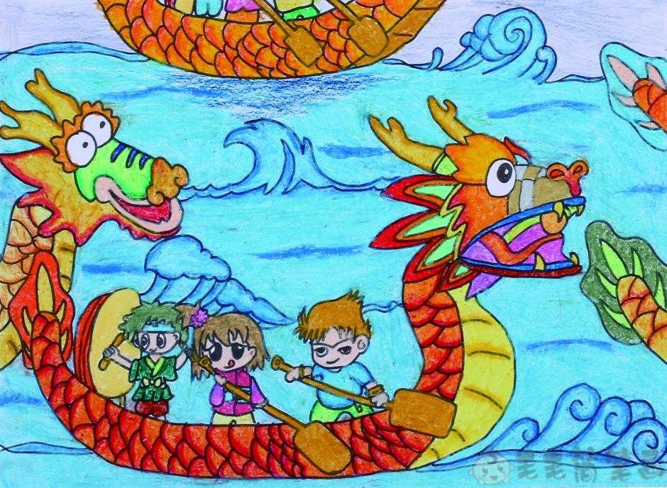 关于端午节的儿童画图片