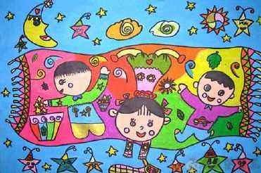 十一国庆节儿童画图片