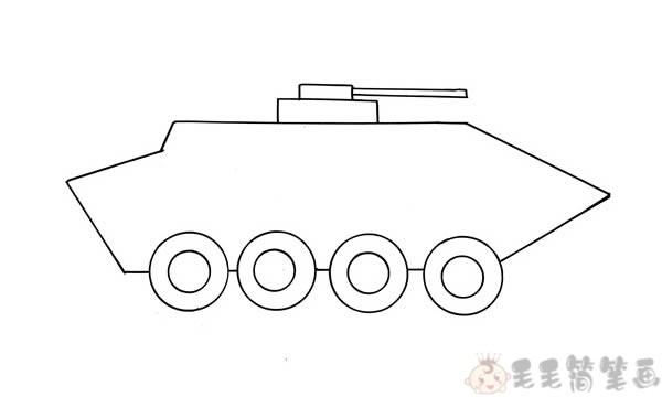 装甲车简笔画画法2