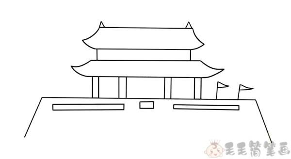 天安门简笔画2