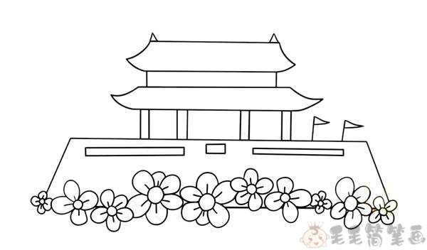 天安门简笔画3