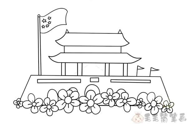 天安门简笔画4