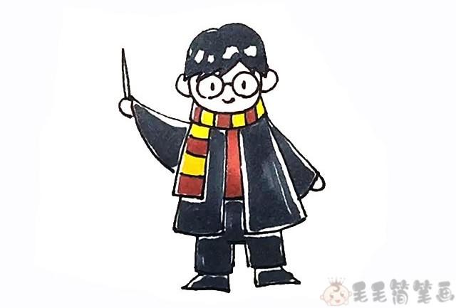 哈利波特简笔画