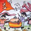 71周年国庆绘画,国庆节少儿绘画