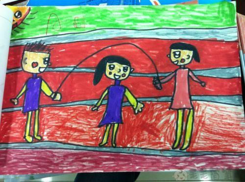 一年级运动会儿童绘画