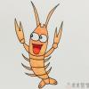小龙虾简笔画,龙虾的简单画法