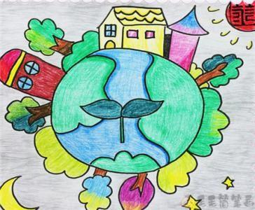 三年级绿色家园少儿画画