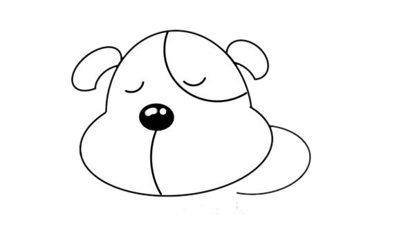 小黄狗简笔画,小黄狗怎么画简单画法 中级简笔画教程-第4张