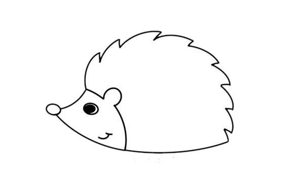 刺猬怎么画,小刺猬儿童简笔画 初级简笔画教程-第4张