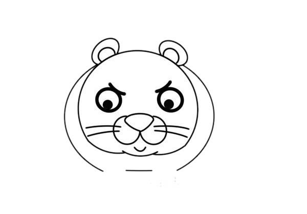 卡通q版花豹简笔画,猎豹简笔画 中级简笔画教程-第4张