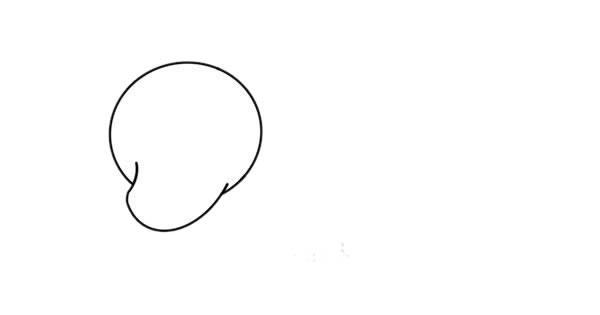北极熊怎么画简朴又悦目 可爱北极熊简笔画 中级简笔画教程-第2张