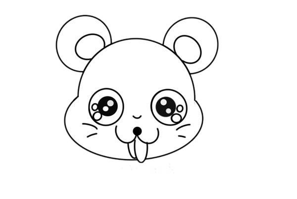 卡通老鼠简笔画,q版老鼠儿童简笔画 中级简笔画教程-第4张