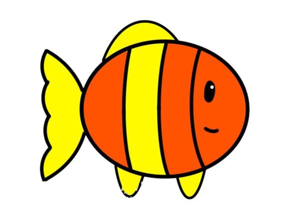 简笔画小丑鱼的画法步骤_可爱小丑鱼简笔画步骤图片 动物-第1张