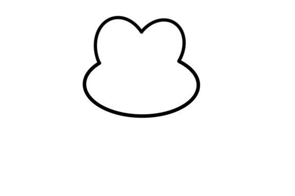 荷叶上的青蛙简笔画彩色 动物-第2张
