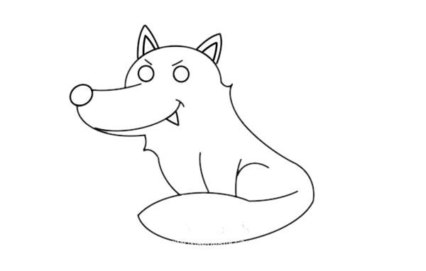大灰狼怎么画,大灰狼儿童简笔画教程 初级简笔画教程-第5张