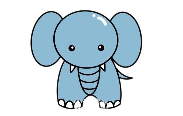 大象儿童简笔画画法 初级简笔画教程-第1张
