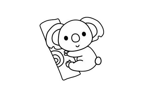 考拉简笔画简单画法 初级简笔画教程-第1张