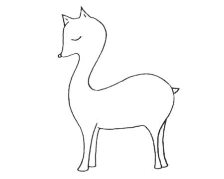 梅花鹿儿童简笔画线稿图片 中级简笔画教程-第8张
