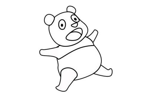 怎么画熊猫简单画法 初级简笔画教程-第11张