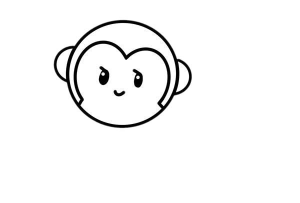 小猴子怎么画_超萌小猴子简笔画画法步骤步骤图片 动物-第5张