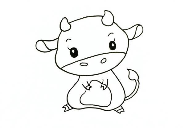 QQ红包牛怎么画 中级简笔画教程-第1张