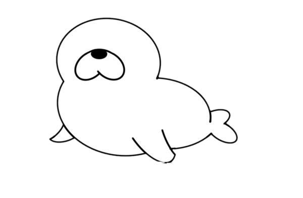 海狮怎么画简笔画图片大全 中级简笔画教程-第5张