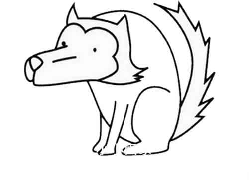 狼的简笔画 凶残 霸气 狼的超简单画法步骤 中级简笔画教程-第5张