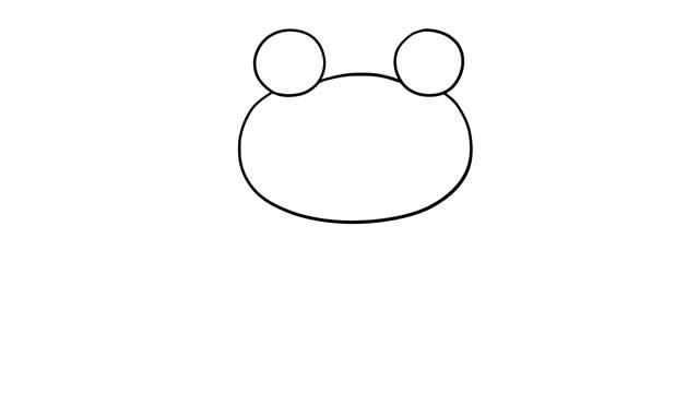 青蛙王子简笔画彩色图片 动物-第3张