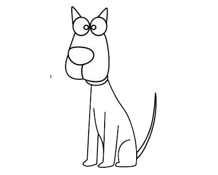 一步一步学画小狗简笔画 初级简笔画教程-第12张