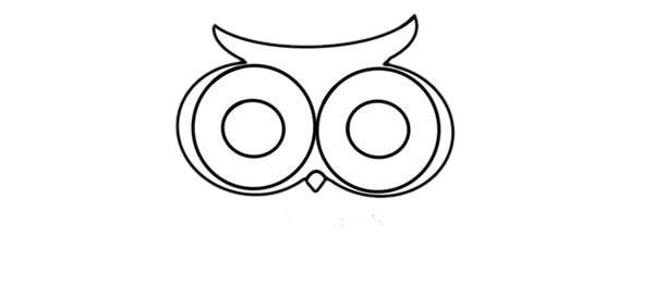 猫头鹰怎么画 可爱呆萌猫头鹰简笔画步骤图解教程 中级简笔画教程-第4张
