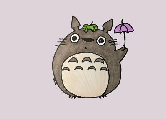 龙猫怎么画简单又可爱图片 中级简笔画教程-第1张