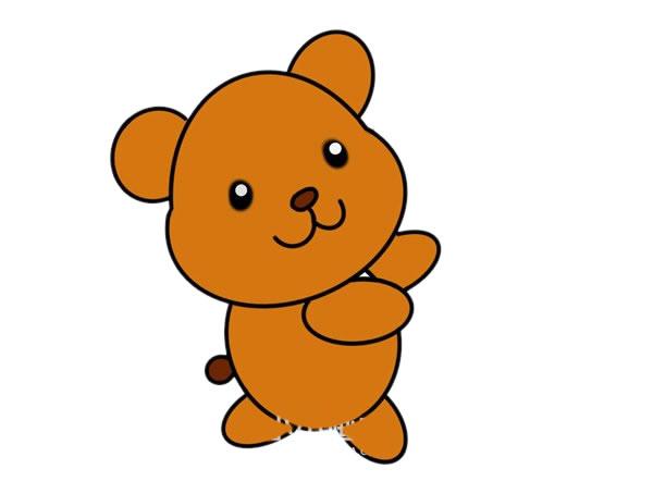 玩具小熊怎么画,小熊简笔画 中级简笔画教程-第1张
