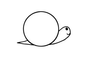 可爱蜗牛简笔画步骤图片大全 初级简笔画教程-第6张