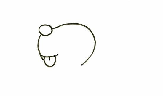 圣诞小麋鹿简笔画图片 中级简笔画教程-第2张