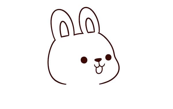 兔子怎么画简单漂亮 中级简笔画教程-第3张