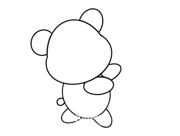 玩具小熊怎么画,小熊简笔画 中级简笔画教程-第4张