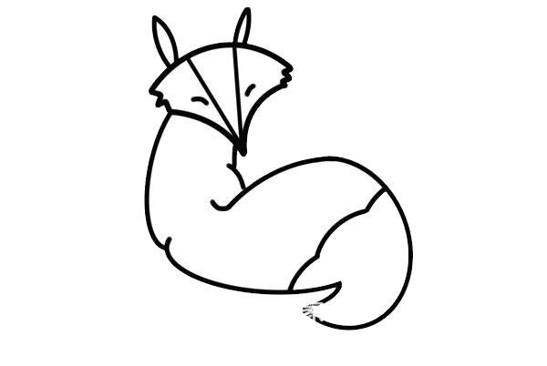 狡猾的狐狸简笔画画法步骤步骤图片 动物-第5张