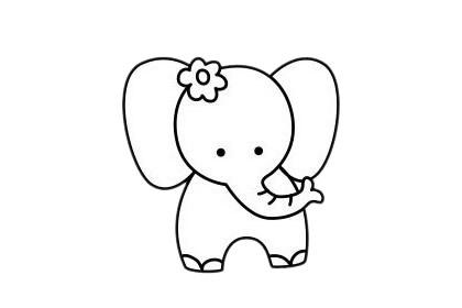 大象怎么画最简单,大象简笔画 初级简笔画教程-第11张