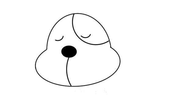 小黄狗简笔画,小黄狗怎么画简单画法 中级简笔画教程-第3张