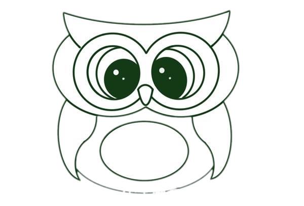 猫头鹰怎么画,儿童简笔画猫头鹰 动物-第6张
