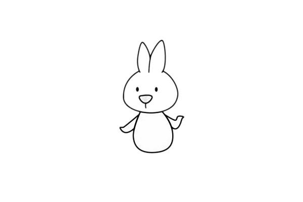 小白兔最简单的画法教程 初级简笔画教程-第7张