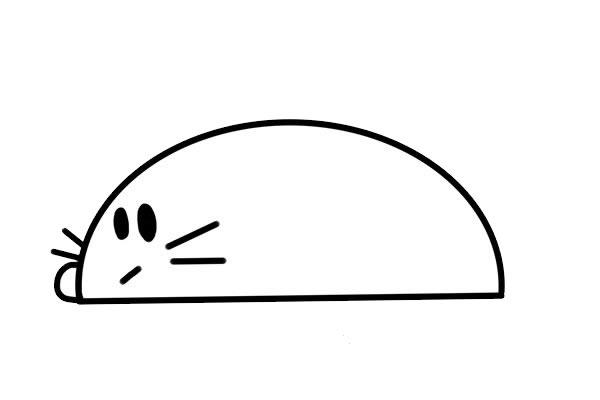 简笔画小老鼠的画法步骤步骤图片 动物-第3张