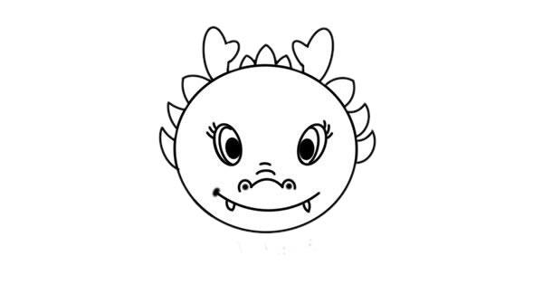 中国龙简笔画图片 初级简笔画教程-第4张